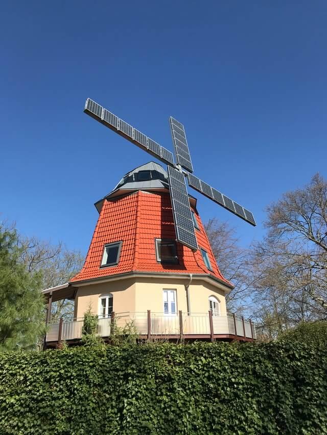 Windmill run on Solar Power