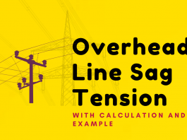 Overhead Line Sag Tension with Calculation and Example
